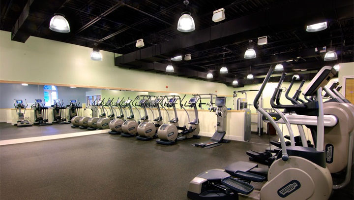 Fitness center at Homestead Resort