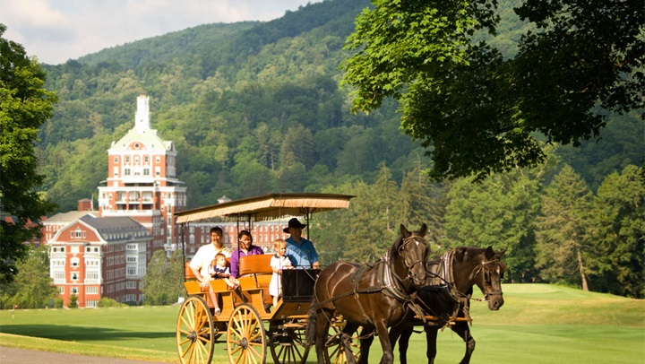 Horse carriage at Homestead Resort