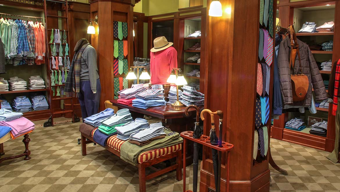 William S. Flynn men's shop at The Omni Homestead