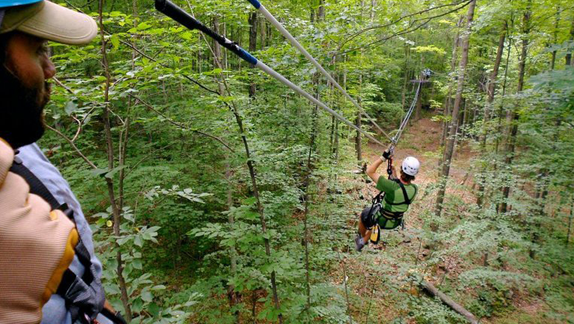 The Omni Homestead Zip Line Tour
