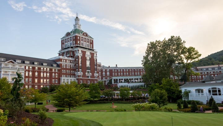 Omni Homestead Resort in spring