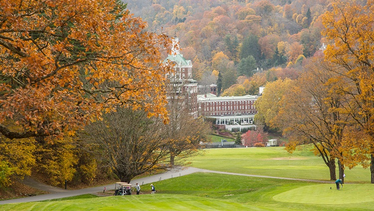 Fall at The Omni Homestead Resort