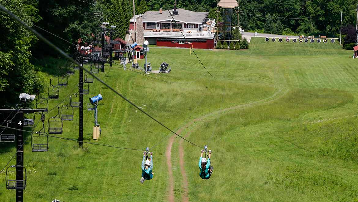 The Red Tail Racer Zip Line