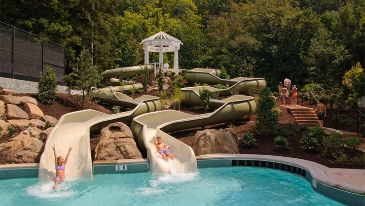 Water slides at Homestead Resort