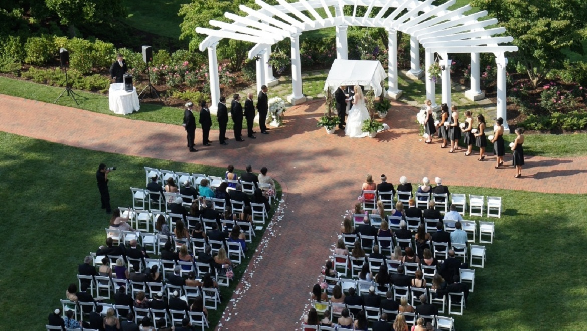 Ceremony on Our Casino Lawn