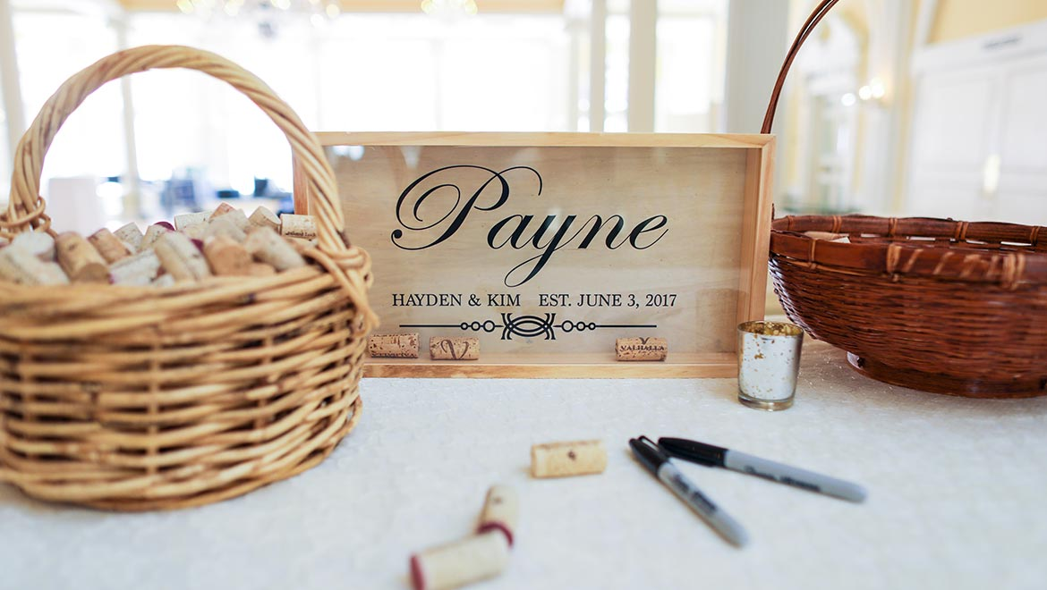 Guestbook With Signing Wine Corks