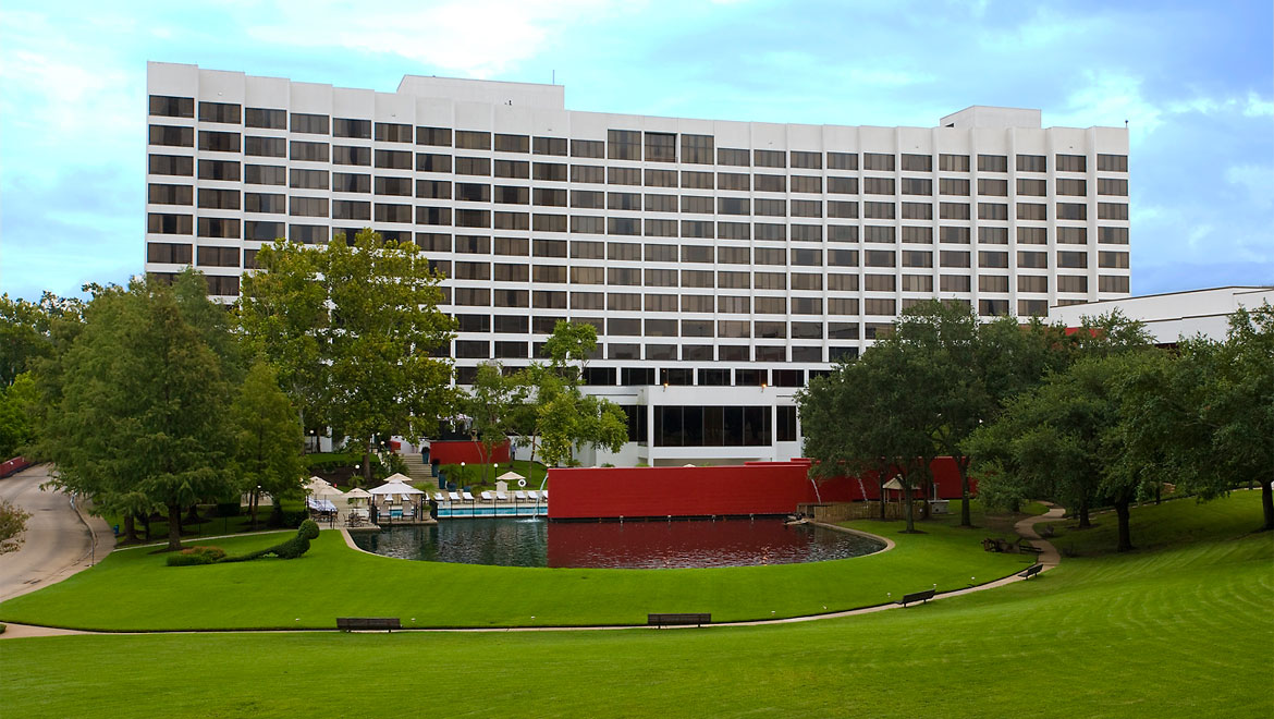 Lawn at Houston hotel