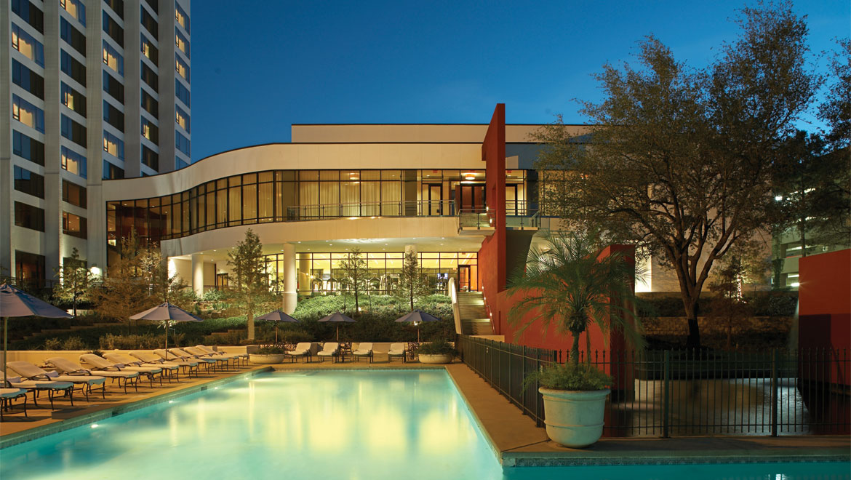 Pool At Night Houston Hotel
