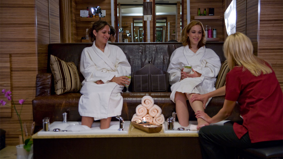 Pedicure at Mokara spa