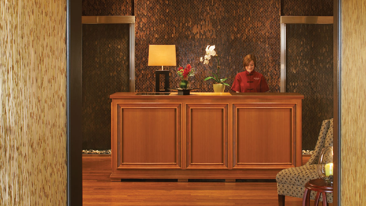 Mokara spa reception desk