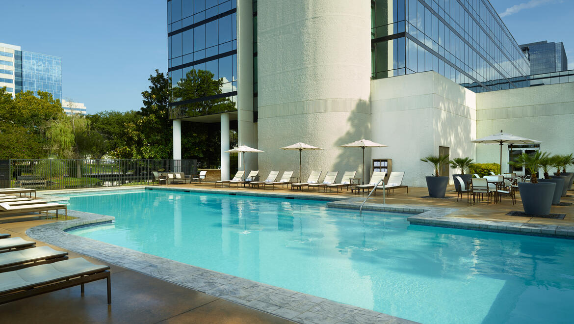 Outdoor Pool at Omni Houston Hotel at Westside