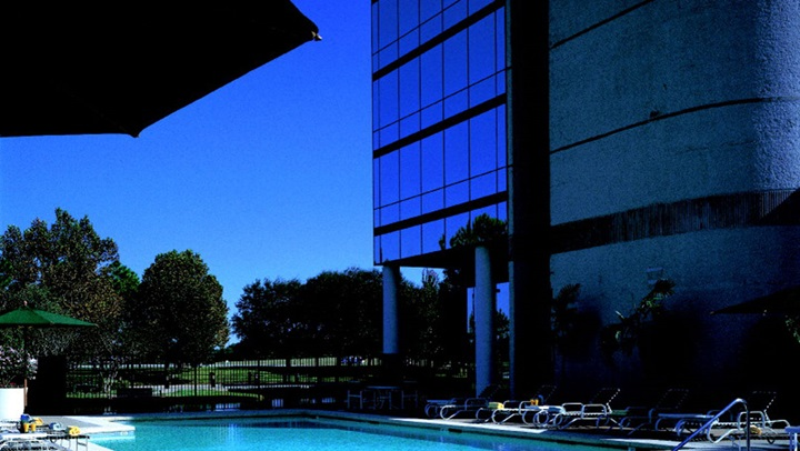 Pool and hotel view at Houston Westside