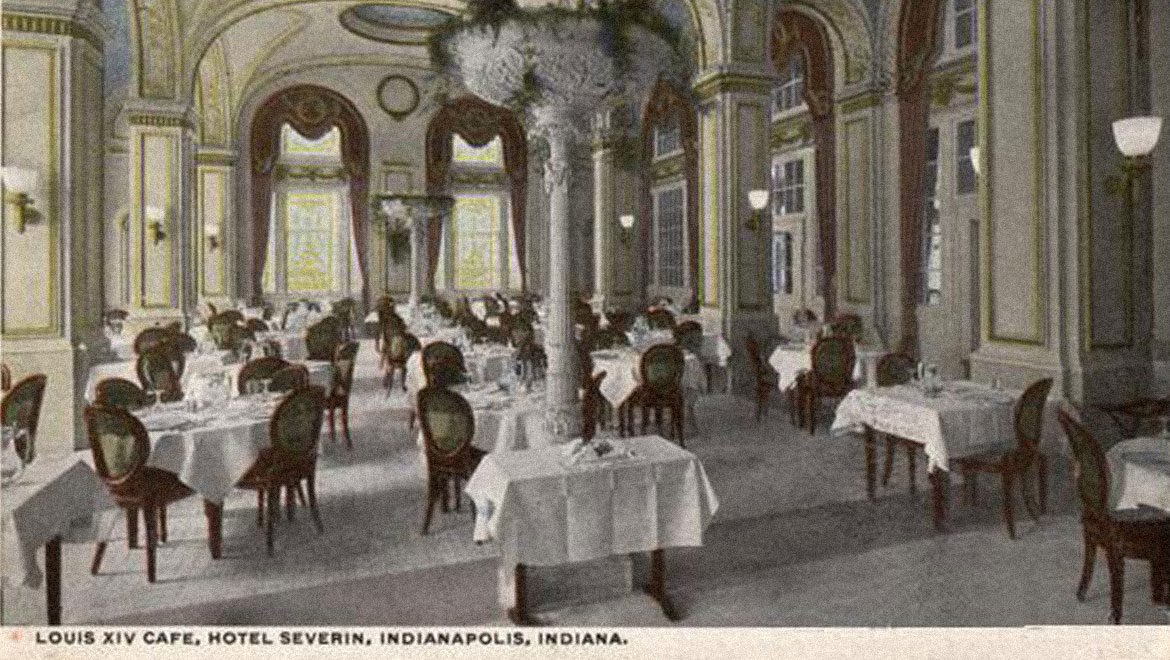 Historic Louis XIV Cafe at the Omni Severin