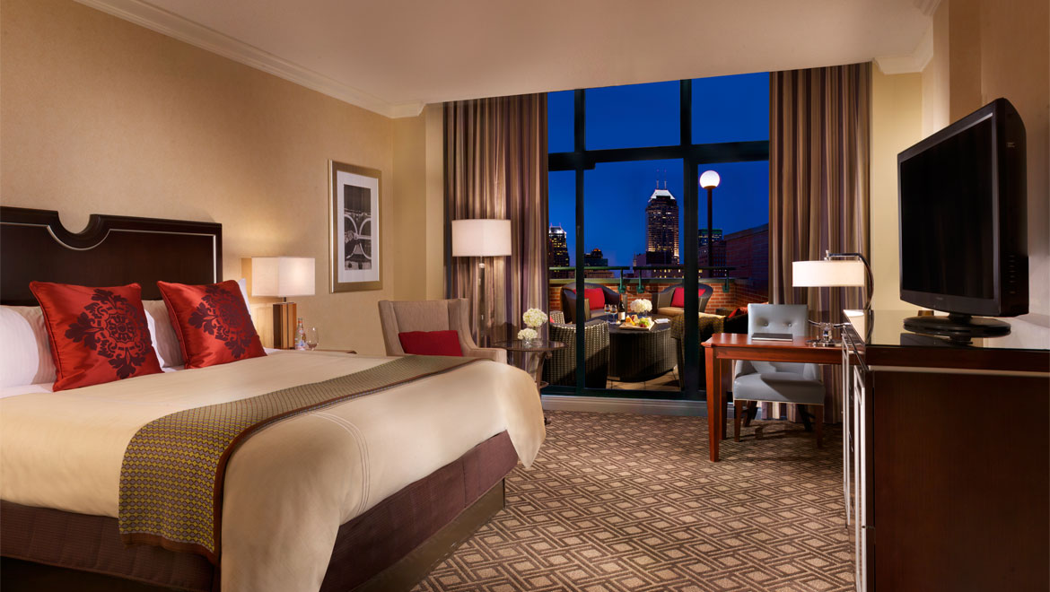 Hotel suites indianapolis omni severin hotel - Bedroom furniture stores indianapolis ...