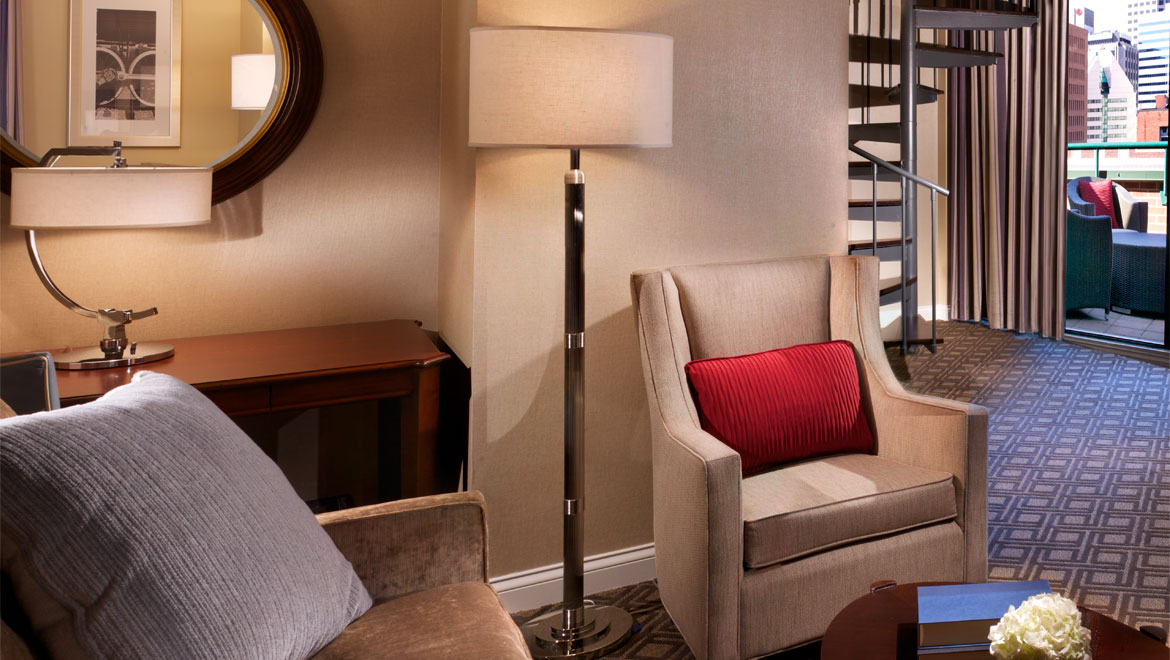 Severin Hotel suite seating