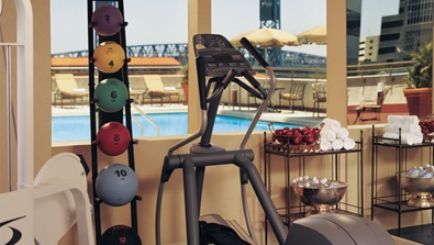 Fitness center at Jacksonville Hotel