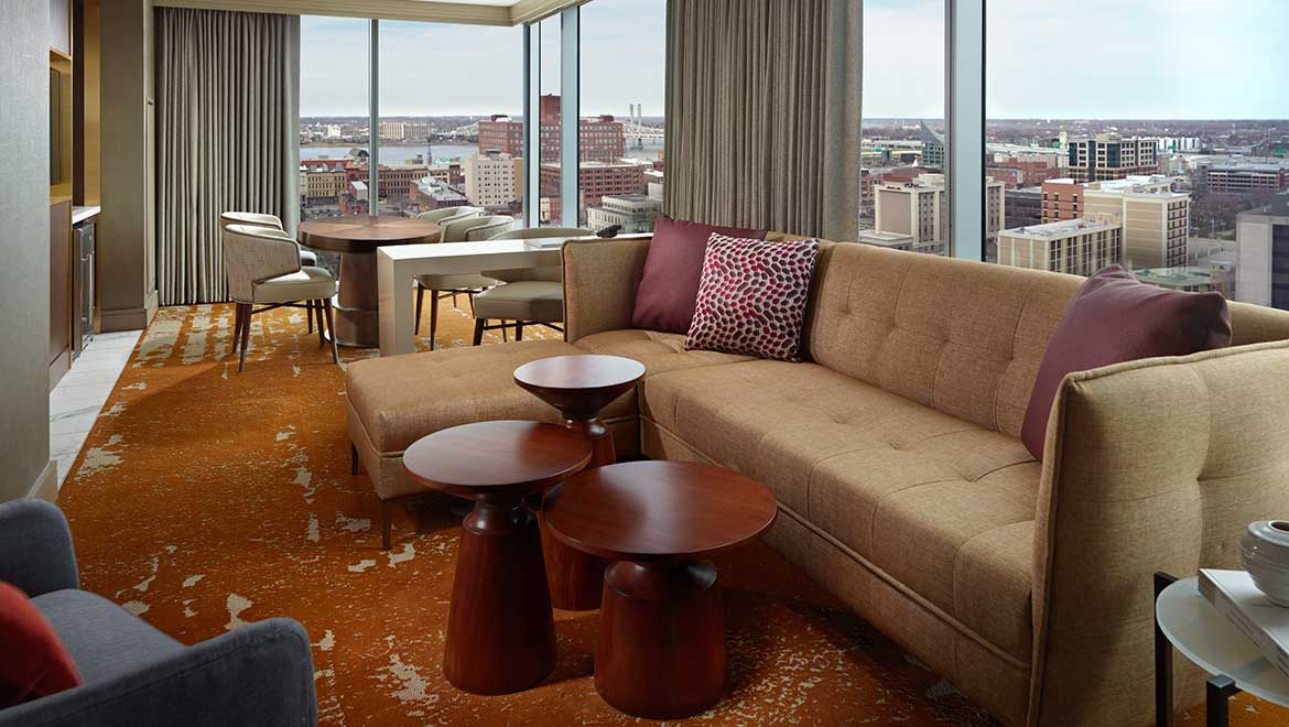 ... In Room Laptop Safe, WiFi Access, 49u201d Flat Screen Television With  STAYCAST™ Streaming. Select Rooms Offer Stunning Views Of The Louisville  Skyline And ...