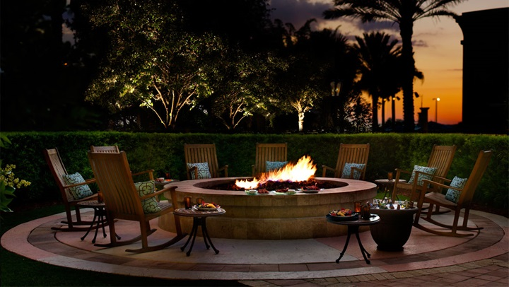 Fire pit at ChampionsGate