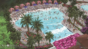 Wave pool in Orlando