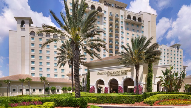 Front exterior of the Championsgate Resort in Orlando
