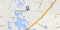 Map location of Omni Orlando Resort at ChampionsGate
