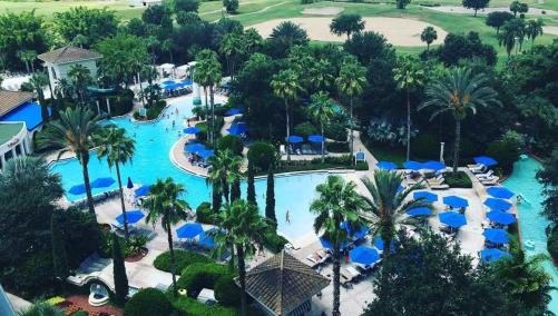 Aerial view of Omni Orlando pool