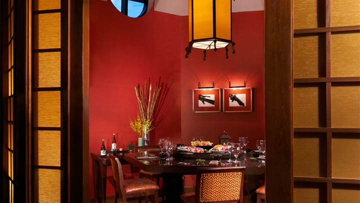 Private dining at Zen restaurant
