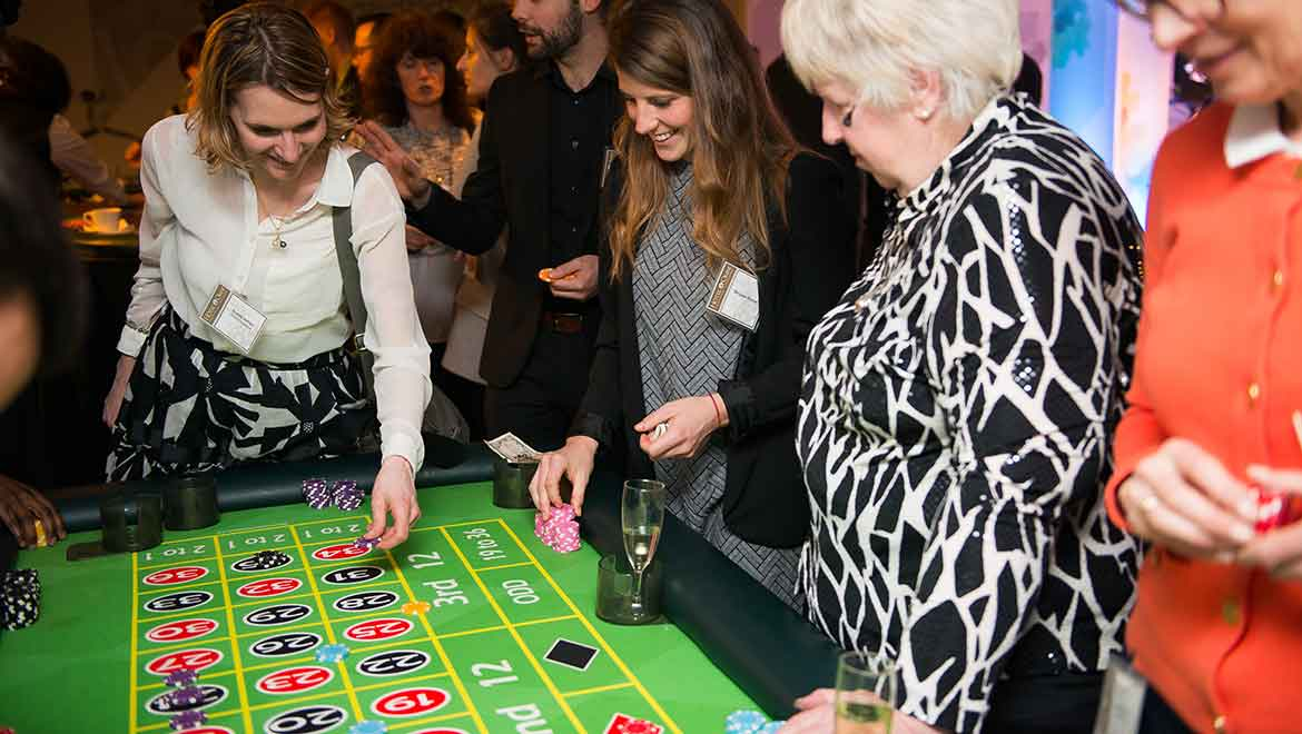 Guests playing craps