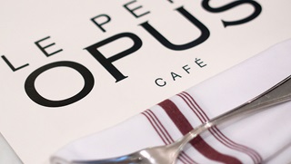 Menu from Le Petit Opus Cafe