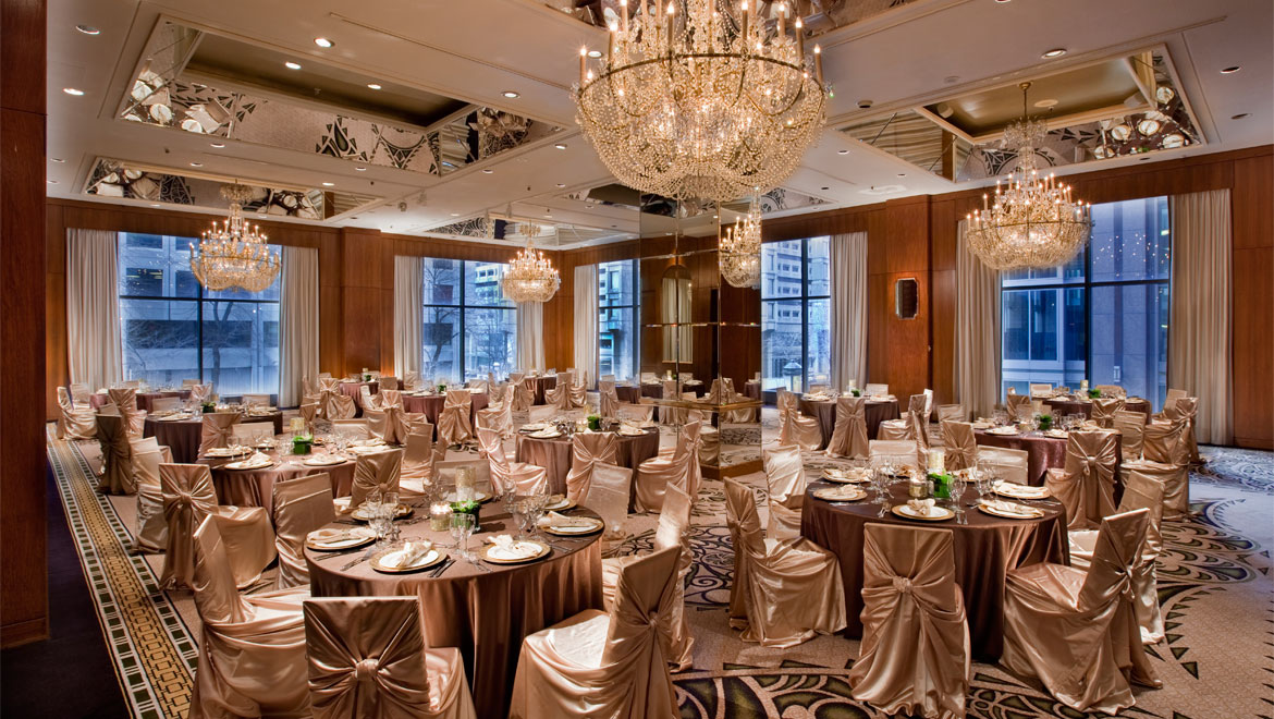Wedding banquet room at Mont-Royal