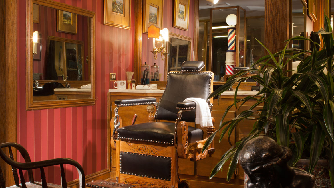 Barber shop at Royal Orleans