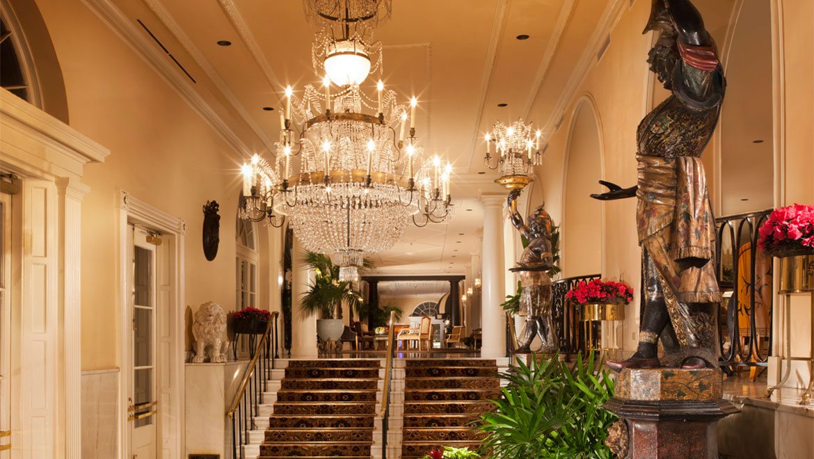 Royal Orleans lobby entrance staircase