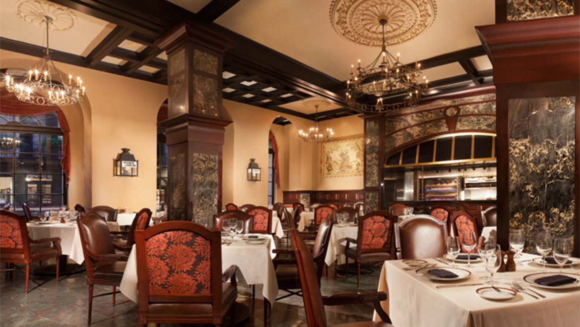 Rib Room seating at Royal Orleans