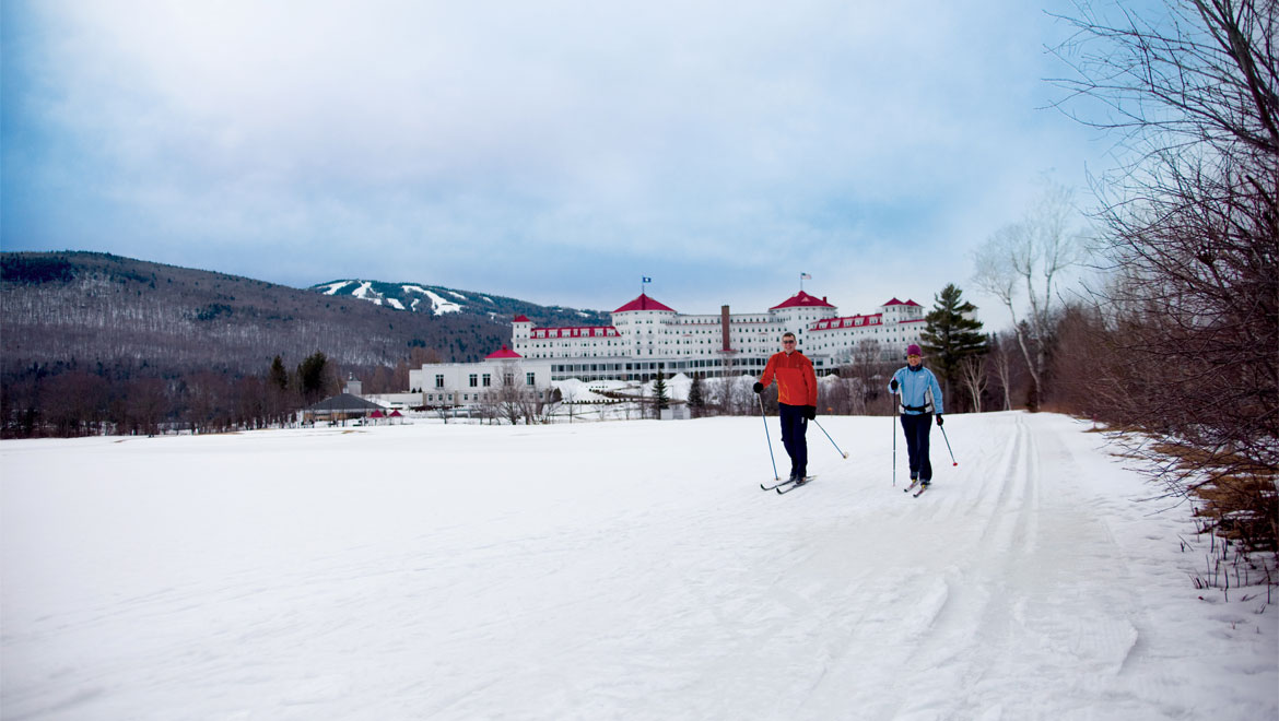Cross Country skiing at Mount Washington