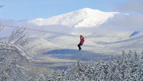 White Winter on the Zipline
