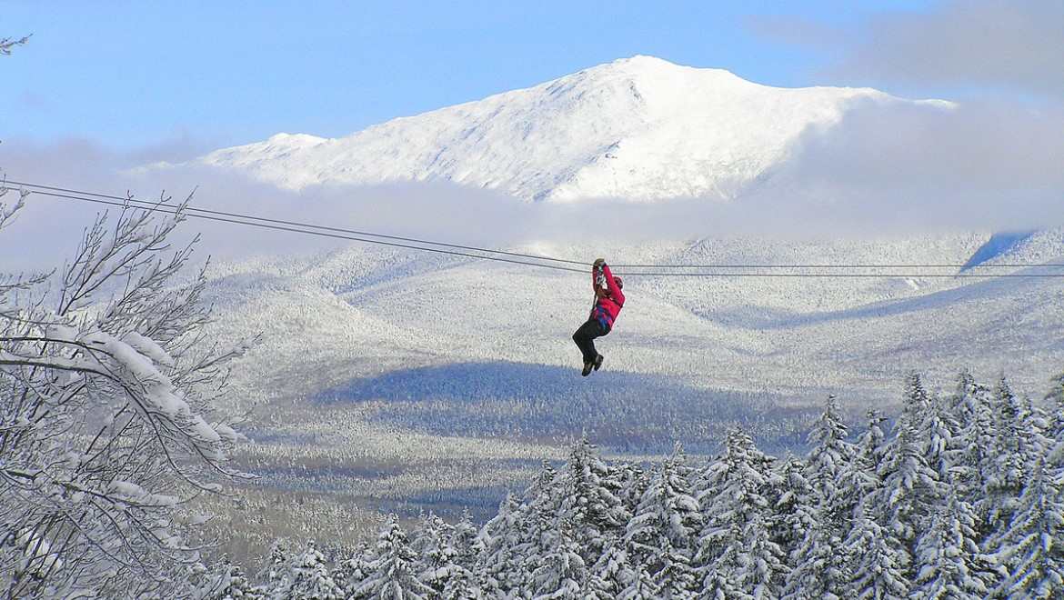 Canopy tour in Bretton Woods