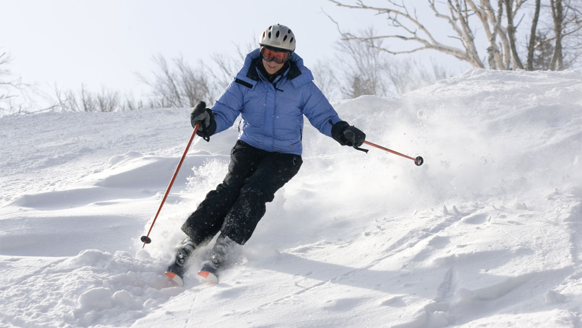 Woman skiing at Mount Washington