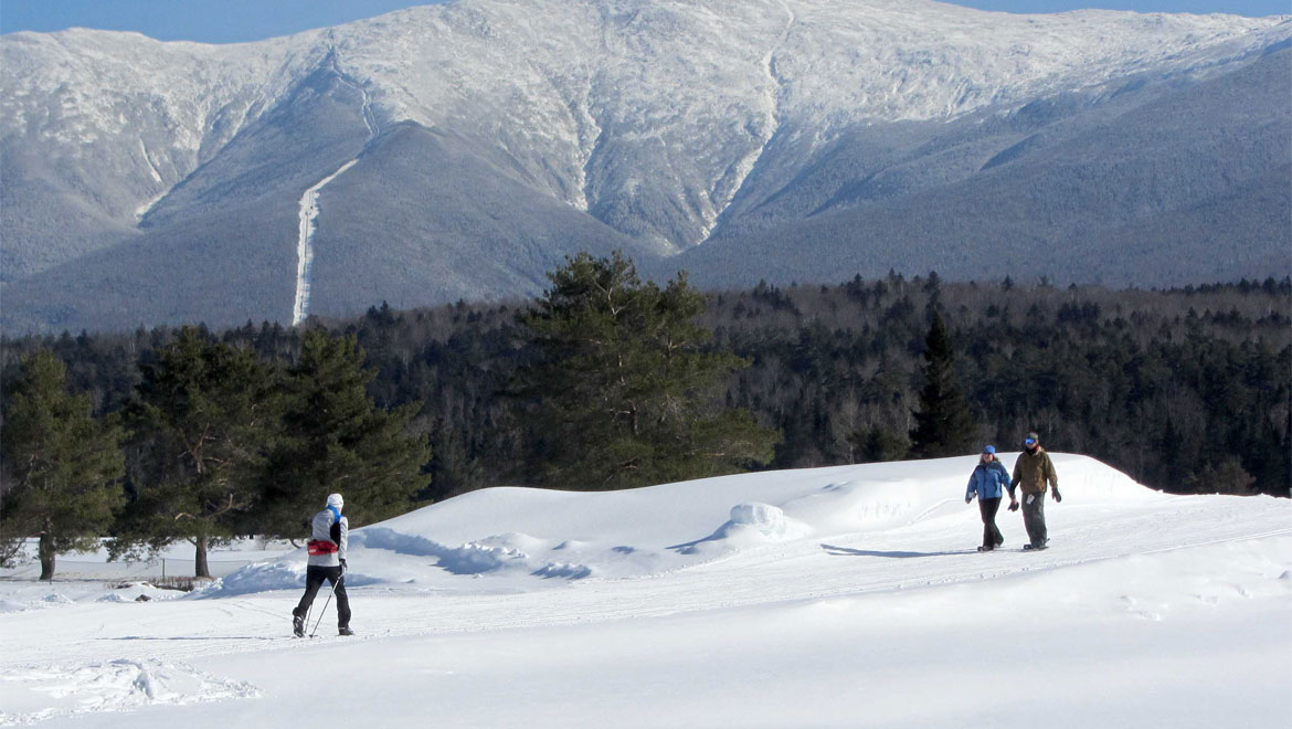 Fresh snow skiing at Mount Washington