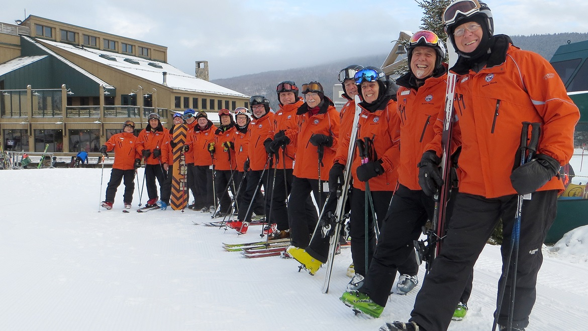 Ski instructors at Bretton Woods