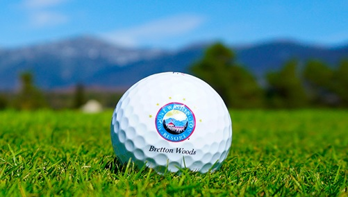 Omni Mount Washington golf ball on green