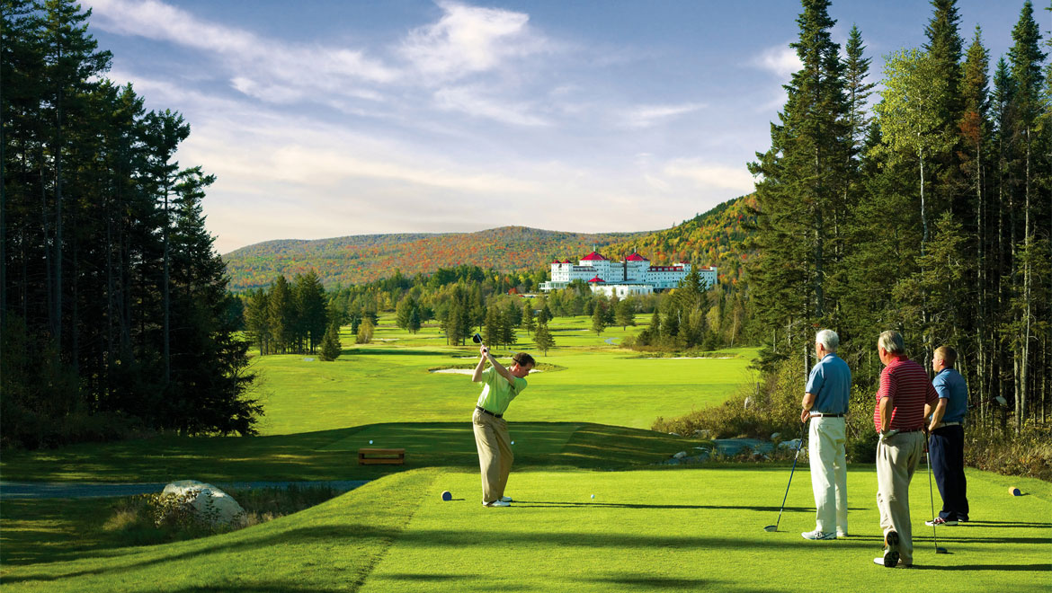 Men golfing at Mount Washington