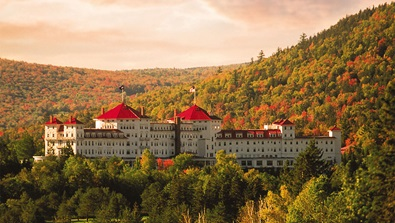Exterior view of Mount Washington in the fall