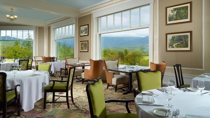 Dine while enjoying the view