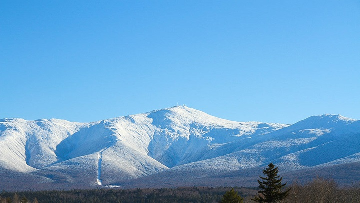 snow covered mount washington