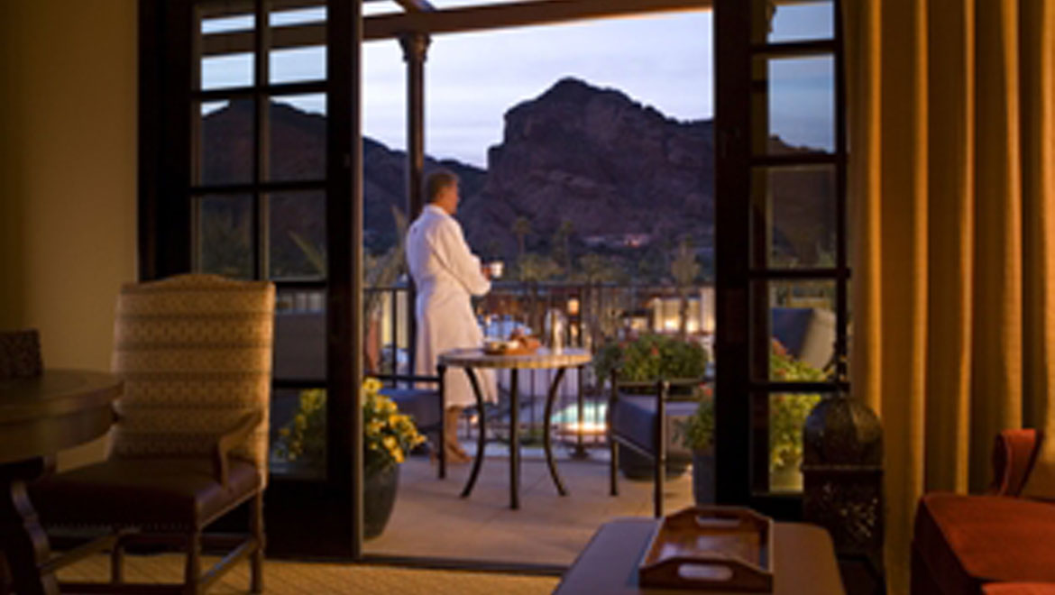 Balcony view at Montelucia in Scottsdale