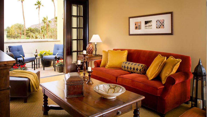 Guest room living area in Montelucia Resort. Hotels In Scottsdale  AZ   Omni Scottsdale Resort   Spa