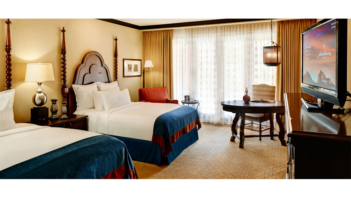 Double queen beds at Montelucia in Scottsdale