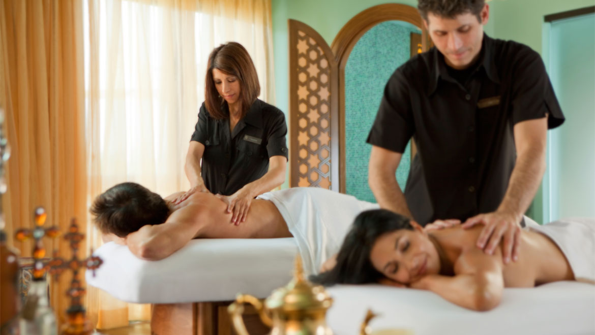 Couples massage at Joya spa