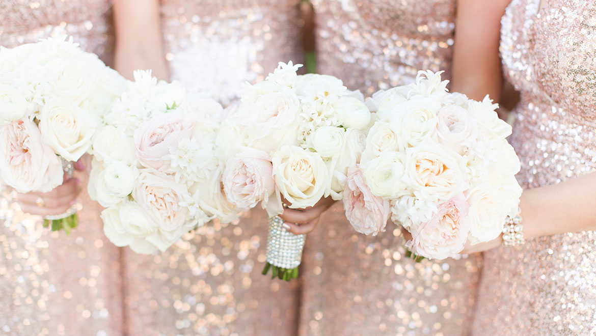 Bridesmaids' flowers