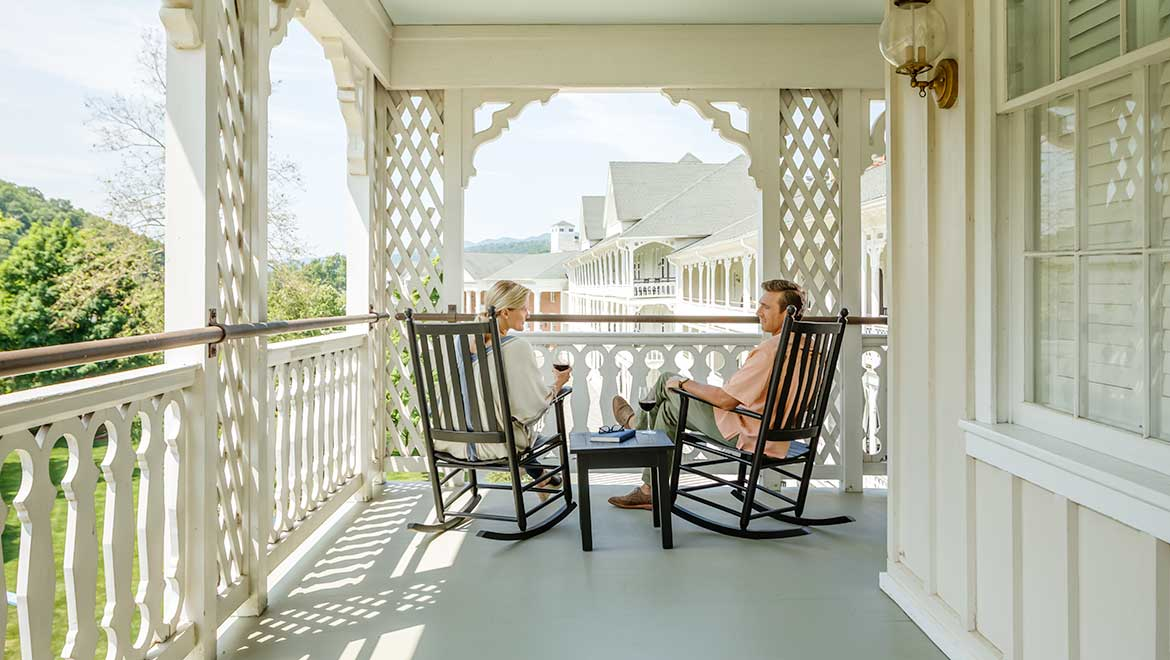 Couple on rocking chairs